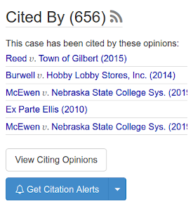 How to create citation alerts