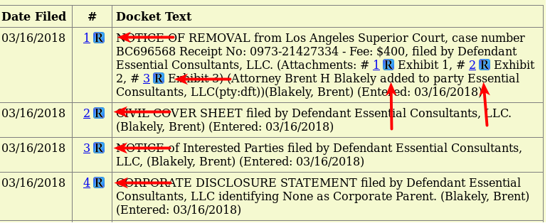 Docket for Stormy Daniels case showing link to RECAP